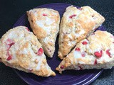 Strawberry Lemon Poppy Seed Scones