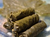 Grape Leaves Stuffed with Rice and Ground Beef (Mahshi Wara' Enab)