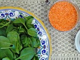 Spinach and Red Lentil Stew (Sabanikh bi Ads)