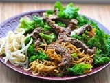 Colourful beef stir-fry