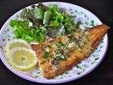 Sole with butter sauce and lemon