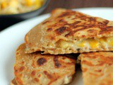 Cheese Corn Pizza Paratha Recipe