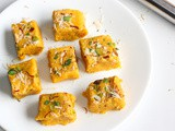 Kesaria Milk Powder Barfi Recipe| Indian Sweet Recipes
