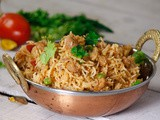 Soyabean Chunk Peas Pulao For Lunch & Dinner