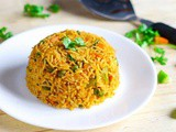 Tawa Pulao Recipe tossed with Green Veggies