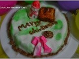 Chocolate Banana Cake with Marshmallow Fondant (Christmas Special)