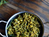 Cherupayar Thoran ~ Green Mung Saute with Coconut