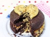 Cookie Dough Chocolate Cake for One (Vegan, Whole Wheat & Reduced Fat)