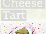 Low Fat Two-Tone Cheese Tart (w vegan option)