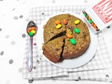 Single Serving Cookie Cake (Reduced Fat, Vegan & Whole Wheat)