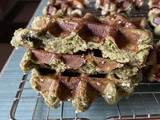 Sourdough Discard Matcha Liege Waffles