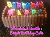 Chocolate & Vanilla Simple Birthday Cake