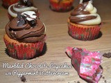Marbled Chocolate Cupcakes with Peppermint Buttercream #EvenBetterBaking