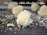 Olive Leaf Tea White Chocolate Truffles