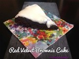 Red Velvet Brownie Microwave Cake