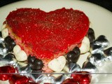 Vanilla & Irish Cream Valentines Cake