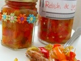 Relish de ardei si gogosari - Red and green pepper relish
