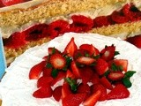 Tort rosu si alb - Red and white cake