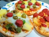 Pita Pizza with Sausage and Pineapple (easy snack ideas)