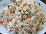 Recipe for Perfect White Veg Pulao / Pilaf