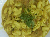 Bhatkally style Macaroni with coconut milk recipe