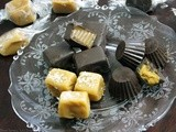 A Chocolate Covered Sunday…. Fleur de Sel Caramels, Chocolate Wrapped Caramels and Peanut Butter Cups