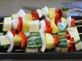 Grilled Veggie Kabobs and Teriyaki Short Ribs