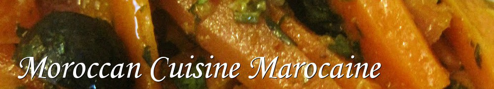 Very Good Recipes - Moroccan Cuisine Marocaine