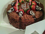 Chocolate-Strawberry Cake - Happy Birthday Sabrina