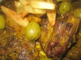 Moroccan Lamb with Preserved Lemon, Saffron and Olives /Moroccan Stew/Agneau au Citron Confit, Safran et Olives à la Marocaine