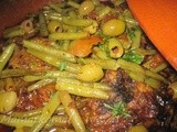 Moroccan Tajine of Lamb with Green Beans and Olives / Tajine Marocain d'Agneau aux Haricots Verts  et Olives