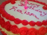 Red-White Cake - Happy Birthday Raissa