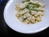 Apsaragus, Goat Cheese & Lemon Pasta