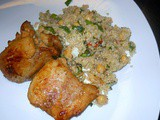 Chicken with a Quinoa & Garbanzo Bean Salad
