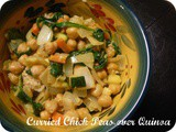 Curried Chickpeas Over Quinoa