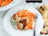 5 Ingredient Turkey Meatballs with Rosemary, Orange Zest and Parmesan Cheese