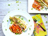 Asian Salmon Sheet Pan Meal with Napa Cabbage