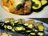 Baked Tilapia Fish Cakes with Zucchini Salad and Tartar Sauce