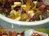 Beet Salad with Apples, Grapes and Walnut Vinaigrette