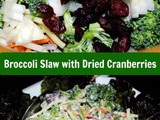 Broccoli Slaw with Dried Cranberries and a Sweet and Spicy Honey Dijon Dressing