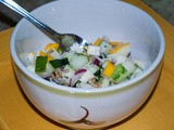 Chopped Salad with Colorful Squashes in a Honey Garlic Vinaigrette