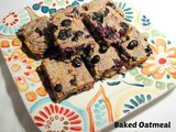 Cinnamony Baked Oatmeal Bars with Blueberries