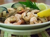 Clam, Shrimp and Mushroom Sauté with Lemon and Herbs