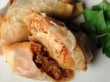 Easy Lasagna Rolls Using Nasoya Egg Roll Wraps