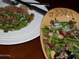 Festive Green Beans with Mushrooms and Sun Dried Tomatoes