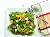 Festive Holiday Salad with Pomegranate, Mandarin Orange, Pecans, and Blue Cheese