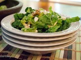 Green Salad with Apples, Goat Cheese, and Apple Cinnamon Vinaigrette
