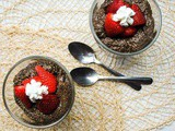 Healthy Dark Chocolate Chia Pudding with Strawberries