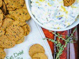 Healthy Holiday Appetizer – Cheese Dip with Cranberry, Walnuts and r.w. Garcia Crackers Giveaway