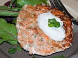 Healthy Salmon Patties with a Lemony Dill Sauce